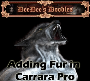 adding fur in carrara pro