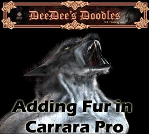 adding fur in carrara pro